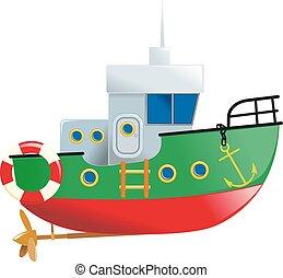 petit, mignon, bateau