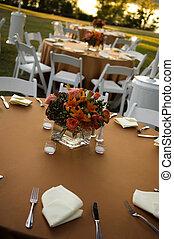petit, milieu de table, fleur, coloré, arrangement