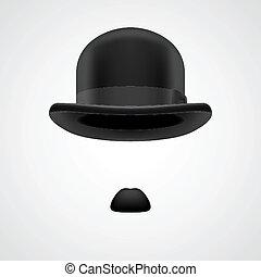 petit, monsieur, chapeau joueur boules, moustaches