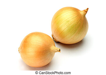 petit onion - I took two petit onions in a white background.