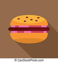 petit pâté, brioche, icône, hamburger, oignon rouge, viande