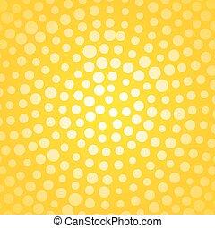 petit, points, fond jaune