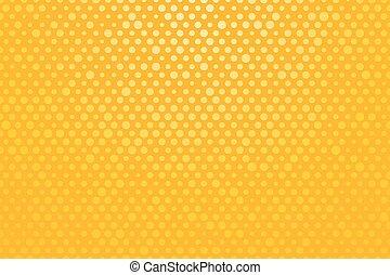 petit, points, polka, fond jaune