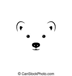 petit, polaire, bear., figure