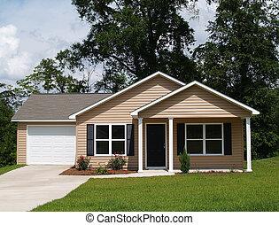 petit, résidentiel, maison