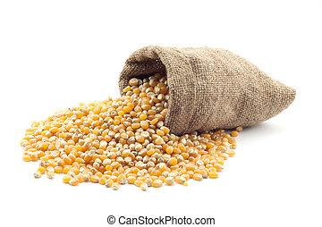 petit, sac, maïs