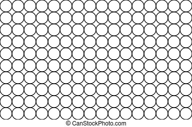 petit, seamless, cellule, arrière-plan., grid., cercle, simple, noir, illustration, graphique, pattern., vecteur