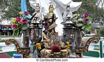 petit, temple, thaïlande