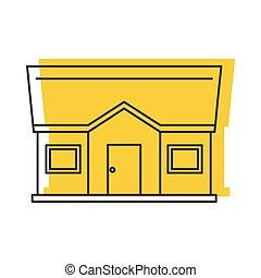 petit, vecteur, house., icône