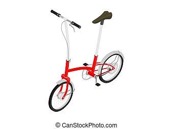 petit, ville, vélo
