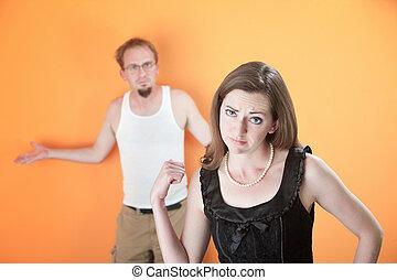 petite amie, désordre, ou, épouse