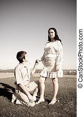 petite amie, proposer, petit ami