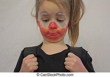 petite fille, à, peint, figure