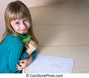 petite fille, dessin