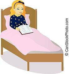 adolescent amour lire lit lettre girl amour clipart vectoriel rechercher illustration. Black Bedroom Furniture Sets. Home Design Ideas