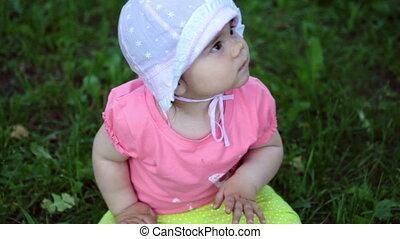 petite fille, nature