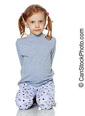 petite fille, pajamas.