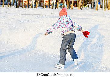 petite fille, patins