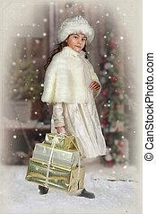 petite fille, photographie millésimée
