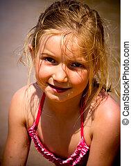 petite fille, portrait
