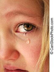 petite fille, triste