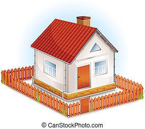 petite maison, barrière