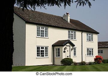 petite maison, blanc
