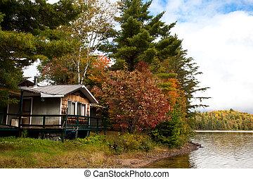 petite maison, canada, lac