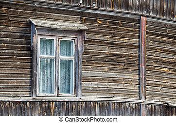 petite maison, fenêtre, vieux