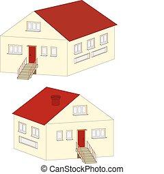 petite maison, isolé