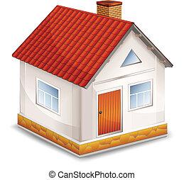 petite maison, isolé, village