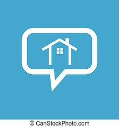 petite maison, message, icône