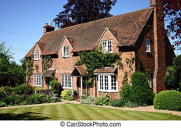 petite maison, pays, anglaise