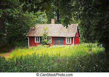 petite maison, rouges