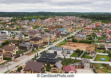 petite maison, site, préparation, construction, suburbain, voisinage
