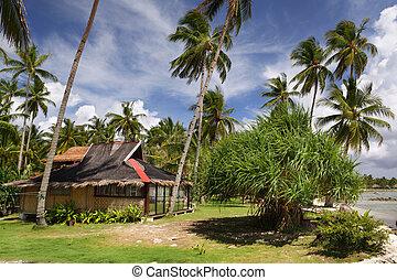 petite maison, vacances, plage, asiatique