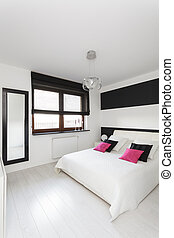 petite maison, vibrant, -, chambre à coucher