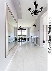 petite maison, vibrant, clair, intérieur, -
