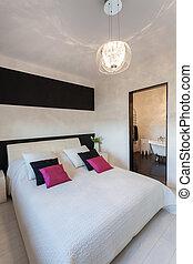 petite maison, vibrant, -, contemporain, chambre à coucher