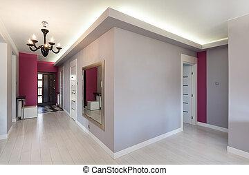 petite maison, vibrant, -, couloir