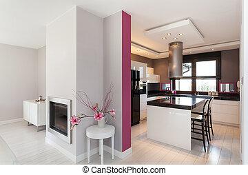 petite maison, vibrant, -, cuisine
