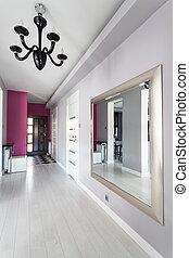 petite maison, vibrant, moderne, -, couloir