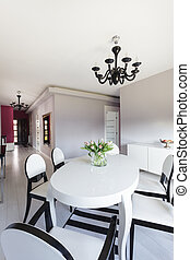 petite maison, vibrant, moderne, -, meubles