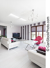 petite maison, vibrant, moderne, -, salle