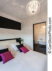 petite maison, vibrant, salle bains, -, chambre à coucher