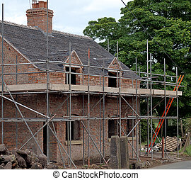 petite maison, vieux, sous, rénovation, pays