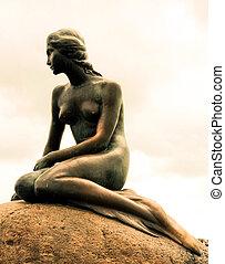 petite sirène, statue
