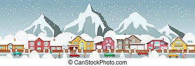 petite ville, alpes