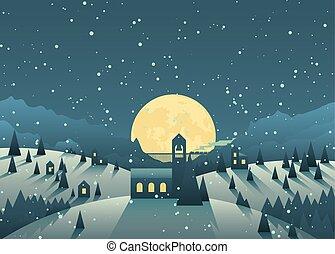 petite ville, hiver