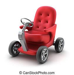 petite voiture, individu